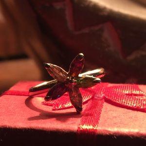 Flower jewel ring